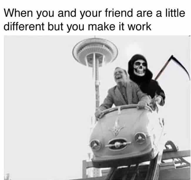 Opposites Attract is listed (or ranked) 4 on the list 20 Best Adult Goth Memes That Will Make You Laugh Every Time