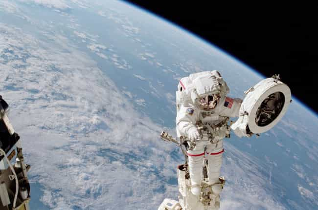 Spacewalking Is Exciting... is listed (or ranked) 3 on the list Weird Details About Astronauts' Everyday Lives In Space