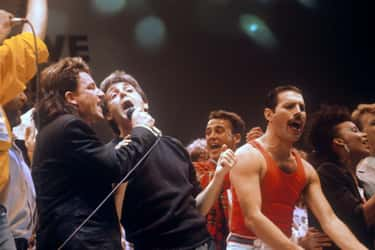 Freddie Mercury Knew It Was A  is listed (or ranked) 1 on the list Inside Queen's Unforgettable Live Aid Performance
