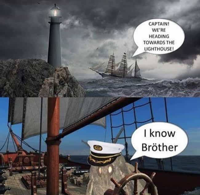 The Lighthouse Brings Death is listed (or ranked) 1 on the list 17 Hilarious Moth Memes That Everyone's Talking About Lately