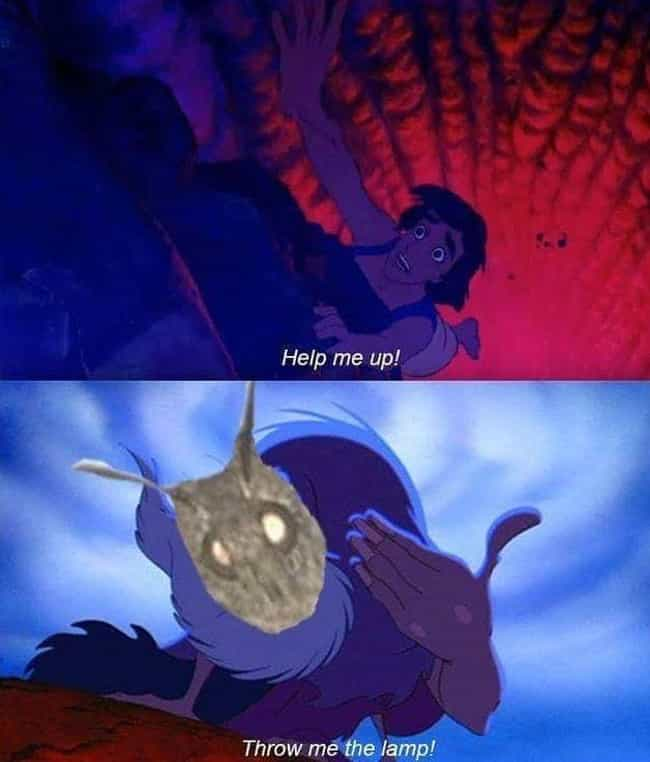 A Whole New World is listed (or ranked) 2 on the list 17 Hilarious Moth Memes That Everyone's Talking About Lately