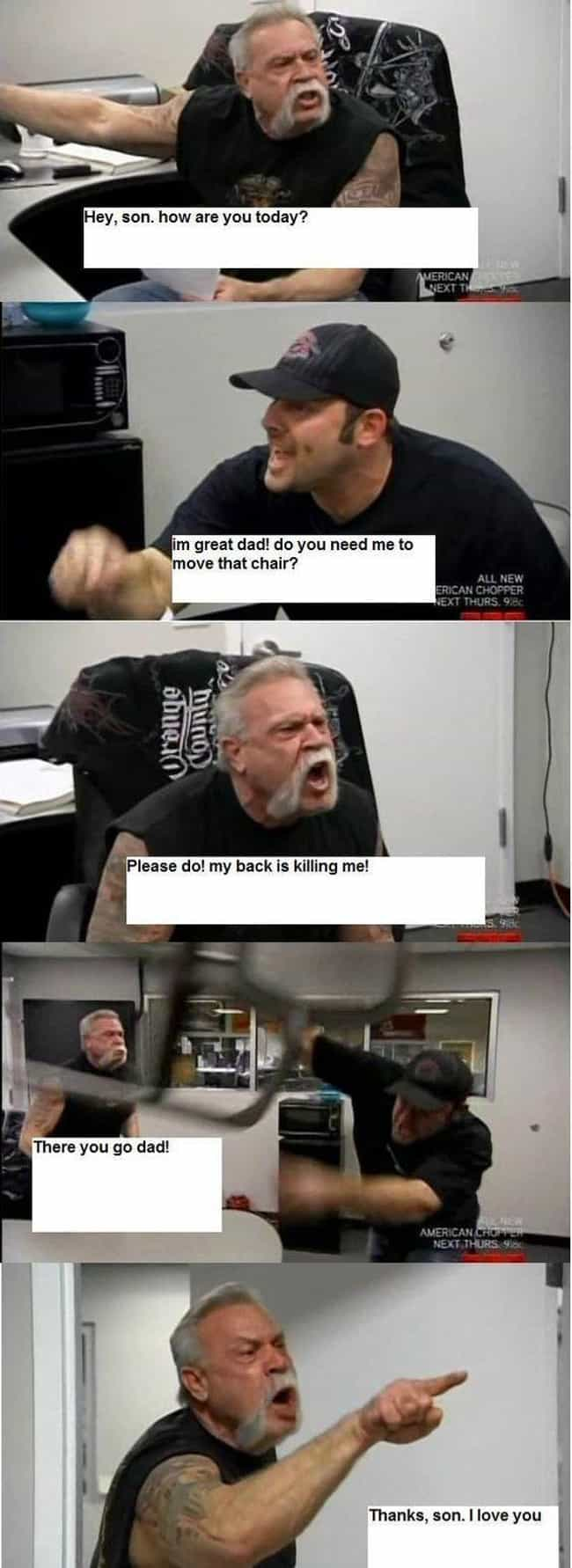 Family Matters is listed (or ranked) 4 on the list The 15 Best 'American Chopper' Memes That Will Make You Laugh Every Time