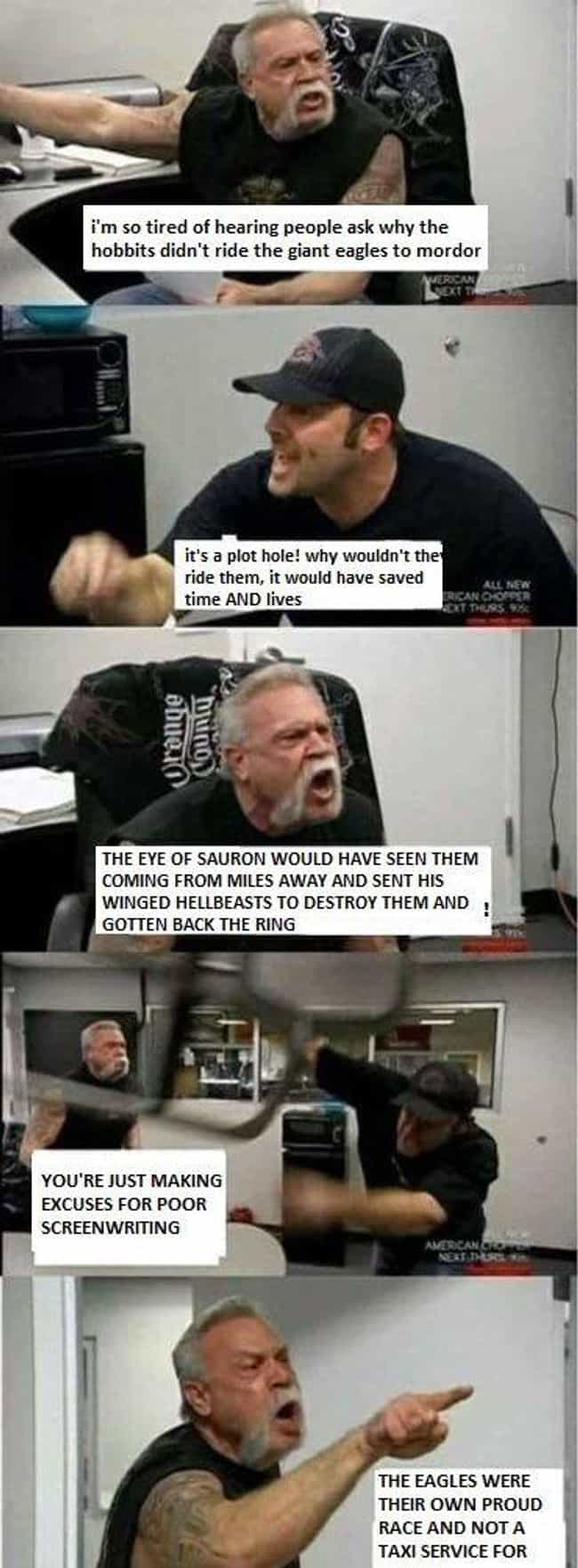 Problems With The Plot is listed (or ranked) 3 on the list The 15 Best 'American Chopper' Memes That Will Make You Laugh Every Time