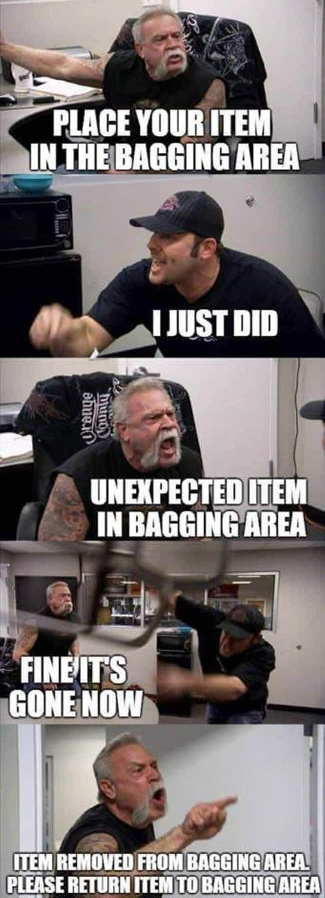 Getting Bagged Down is listed (or ranked) 2 on the list The 15 Best 'American Chopper' Memes That Will Make You Laugh Every Time
