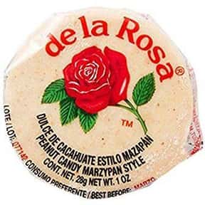 De La Rosa Marzipan Peanut Can is listed (or ranked) 1 on the list The Best Mexican Candy and Sweets