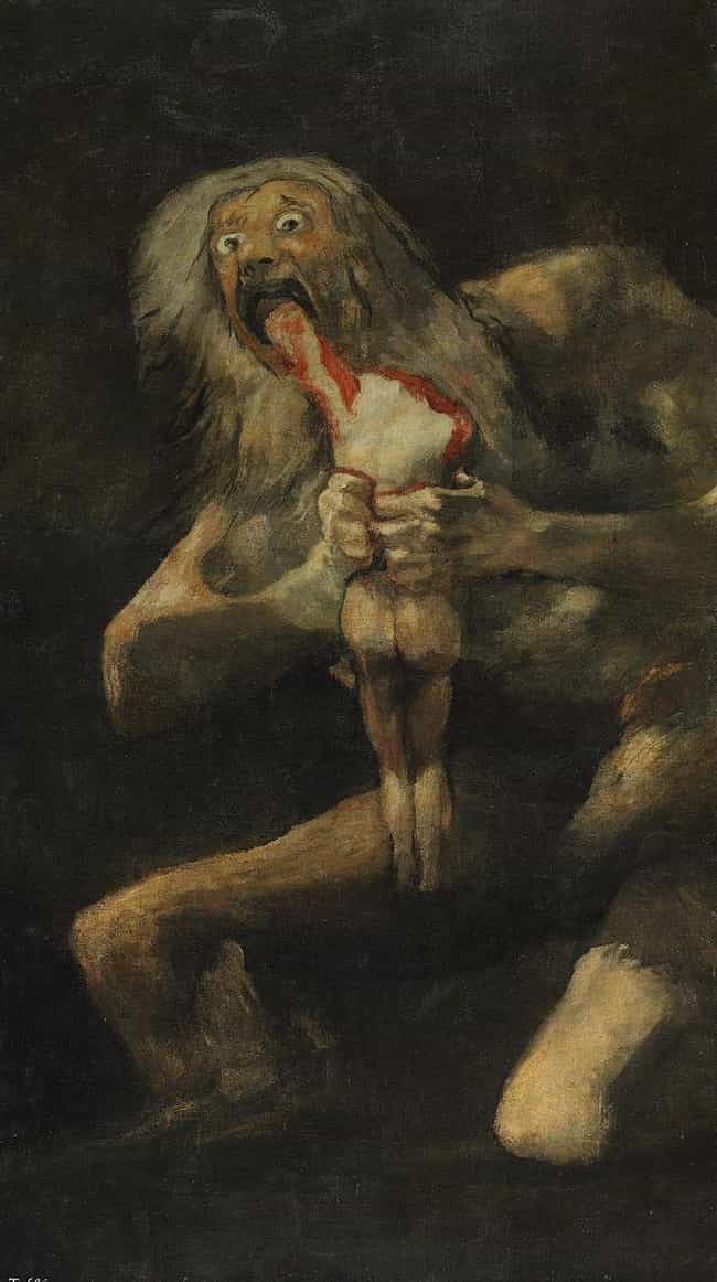 Saturn Devouring His Son is listed (or ranked) 1 on the list The 'Black Paintings' By Francisco Goya Are Deeply Disturbing, And No One Knows Why He Painted Them