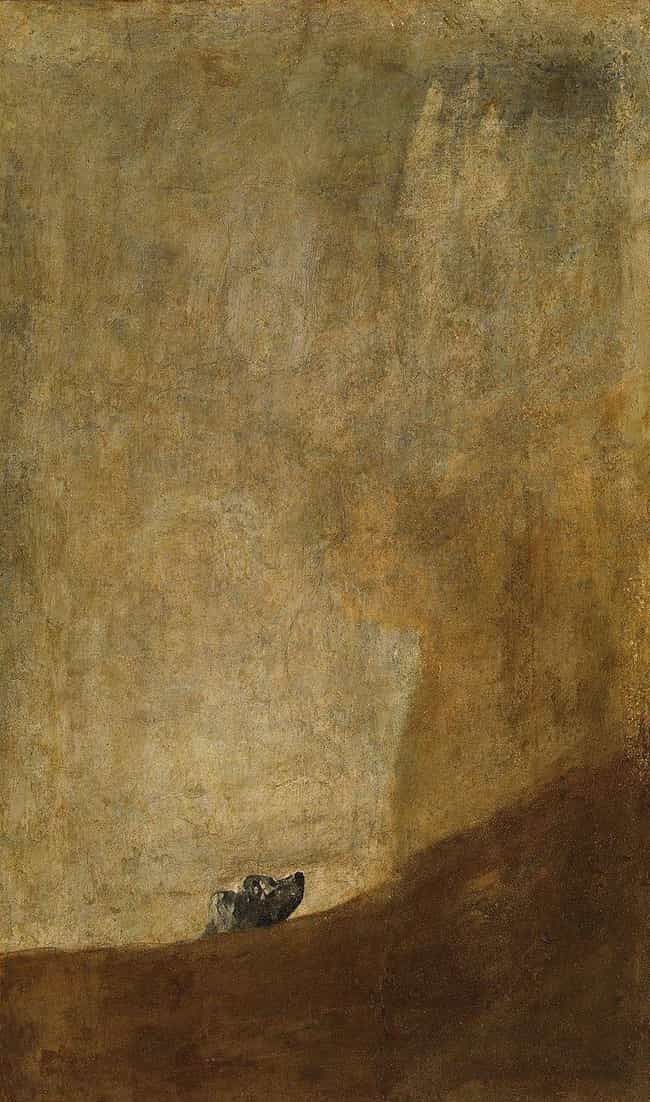 The Dog is listed (or ranked) 2 on the list The 'Black Paintings' By Francisco Goya Are Deeply Disturbing, And No One Knows Why He Painted Them