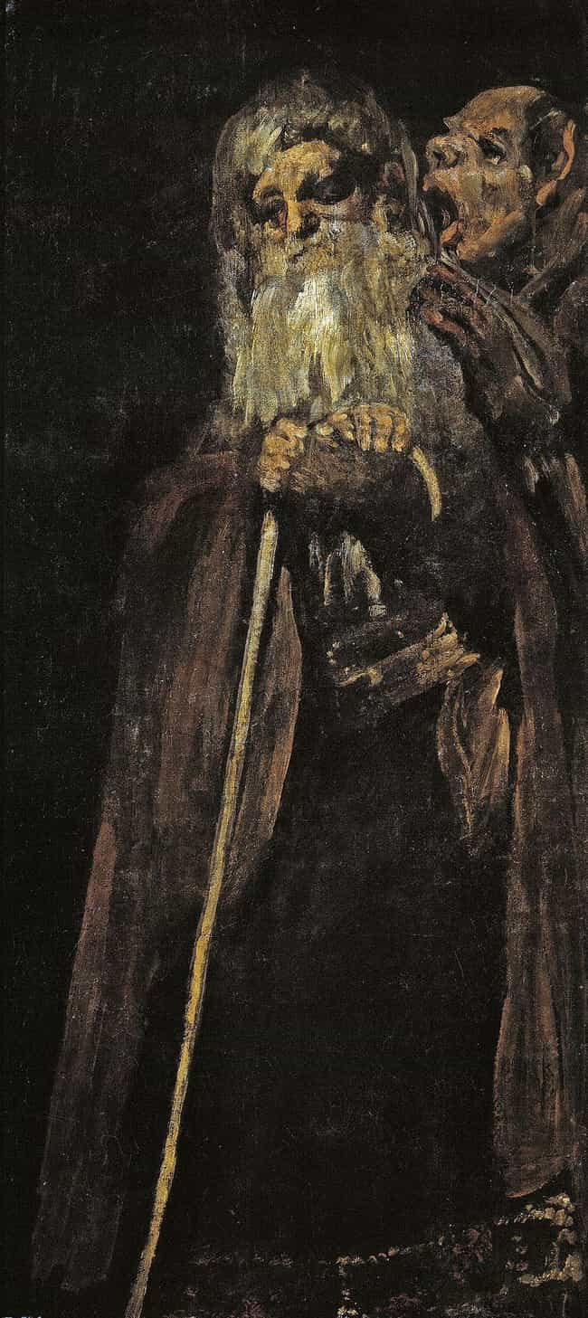 Two Old Men is listed (or ranked) 3 on the list The 'Black Paintings' By Francisco Goya Are Deeply Disturbing, And No One Knows Why He Painted Them
