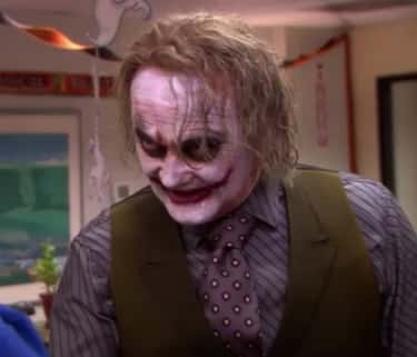 """The Joker from """"The Dark Knigh is listed (or ranked) 2 on the list The Best Halloween Costumes From 'The Office,' Ranked"""