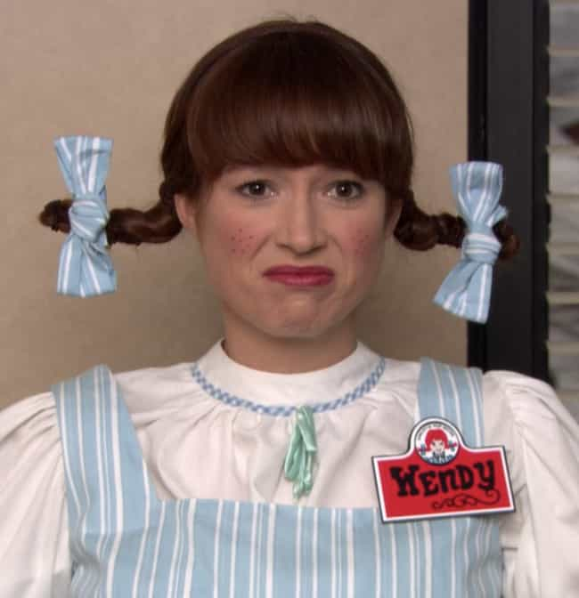 Wendy from Wendy's is listed (or ranked) 3 on the list The Best Halloween Costumes From 'The Office,' Ranked