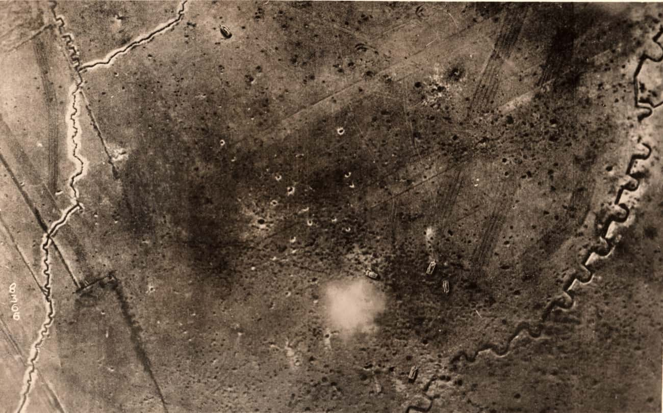 Battle At Soissons is listed (or ranked) 2 on the list Incredible Pictures Of World War I Battlefields From Above