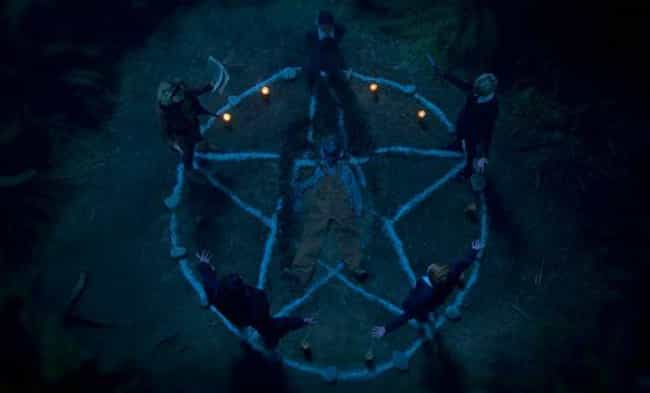 The Pentagram is listed (or ranked) 3 on the list All The Satanic Cult Symbols In 'Chilling Adventures Of Sabrina'