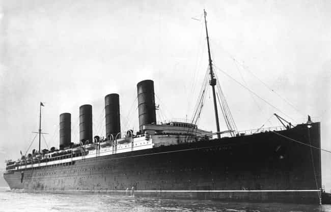 The Ship Sank In Just 18 Minut... is listed (or ranked) 3 on the list The 'Lusitania' Helped Push America Into WWI & Remains One Of The World's Most Dangerous Dive Wrecks