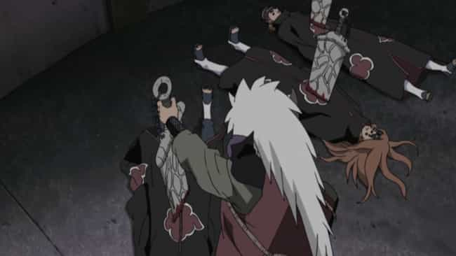 Pain Vs. Jiraiya is listed (or ranked) 3 on the list The 12 Greatest Akatsuki Fights In 'Naruto Shippuden'