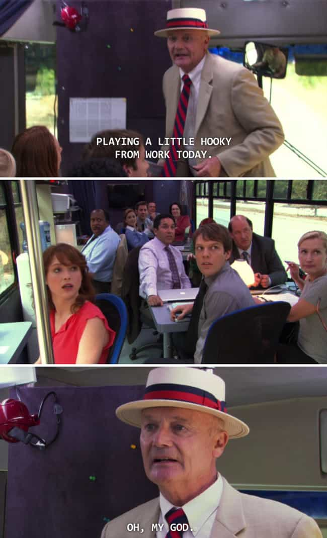 When He Gets Caught Playing Ho... is listed (or ranked) 4 on the list The Best Creed Moments On 'The Office'