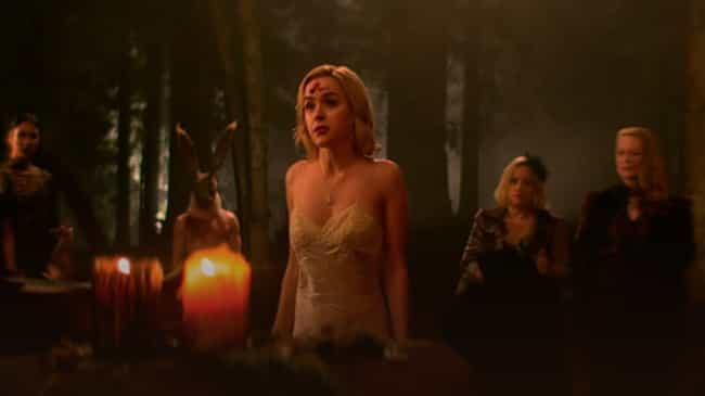 Both Stories See Sabrina Promi... is listed (or ranked) 2 on the list All The Similarities Between Netflix's 'Chilling Adventures of Sabrina' And The Comics