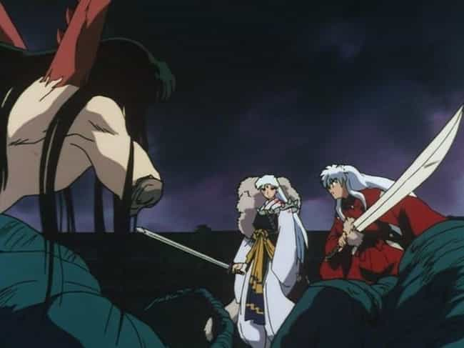 Inuyasha & Sesshoumaru Defeat ... is listed (or ranked) 3 on the list 13 Times Anime Heroes Teamed Up With Villains