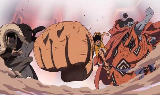 Crocodile & Luffy Team Up To E... is listed (or ranked) 3 on the list 13 Times Anime Heroes Teamed Up With Villains