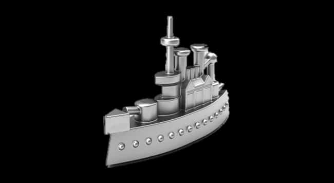Battleship is listed (or ranked) 2 on the list What Your Favorite Monopoly Piece Says About You
