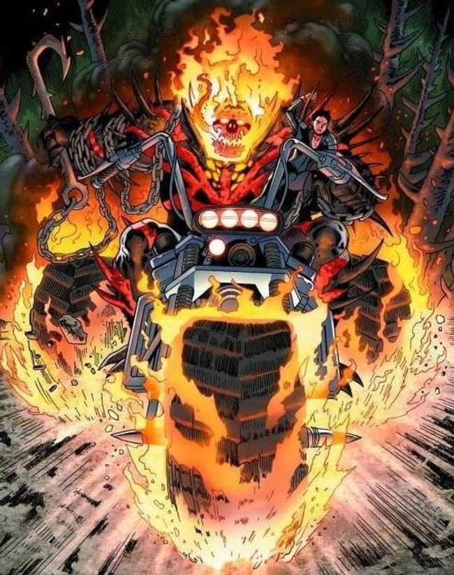 Red Hulk + Venom + Ghost Rider... is listed (or ranked) 4 on the list The Most Heavy Metal Versions Of The Ghost Rider To Ever Appear In The Pages Of Marvel Comics