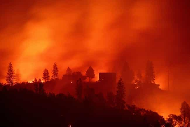 Camp Fire is listed (or ranked) 1 on the list The Worst California Wildfires in History