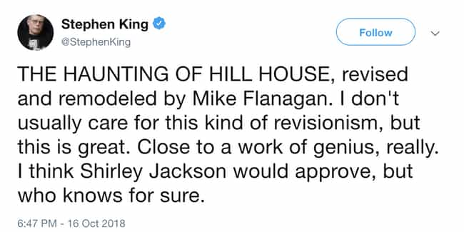 Shirley Jackson Might Even App... is listed (or ranked) 5 on the list People Can't Get Over How Scary 'The Haunting Of Hill House' Is