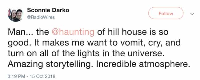 The Lights Are Staying On Fore... is listed (or ranked) 8 on the list People Can't Get Over How Scary 'The Haunting Of Hill House' Is