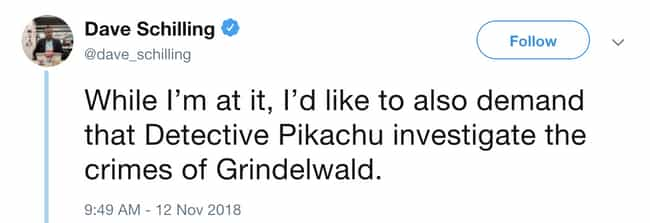 A Harry Potter Crossover? Why ... is listed (or ranked) 2 on the list The First Trailer For 'Detective Pikachu' Is Out And People Are Losing It