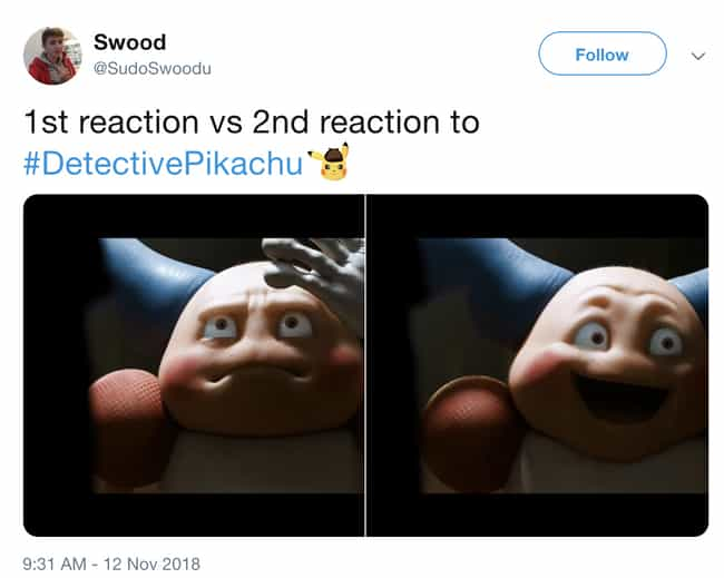 Mr. Mime Knows is listed (or ranked) 4 on the list The First Trailer For 'Detective Pikachu' Is Out And People Are Losing It