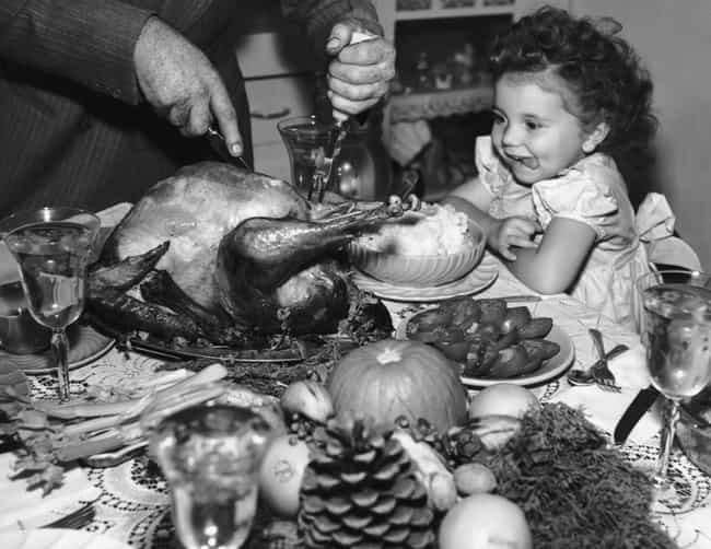 A Young Child Excited For Some... is listed (or ranked) 1 on the list Pictures Of Thanksgiving Over The Years