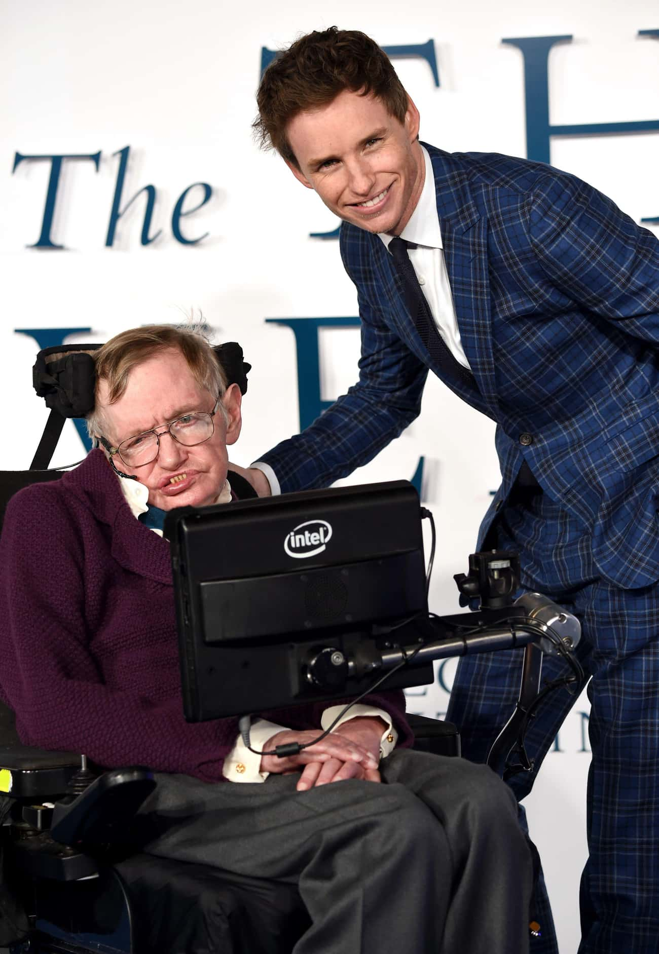 Eddie Redmayne and Stephen Haw is listed (or ranked) 2 on the list 23 Awesome Pics Of Actors With People They Played In Movies