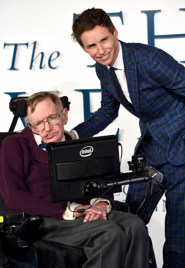 Eddie Redmayne and Stephen Haw... is listed (or ranked) 2 on the list 23 Awesome Pics Of Actors With People They Played In Movies