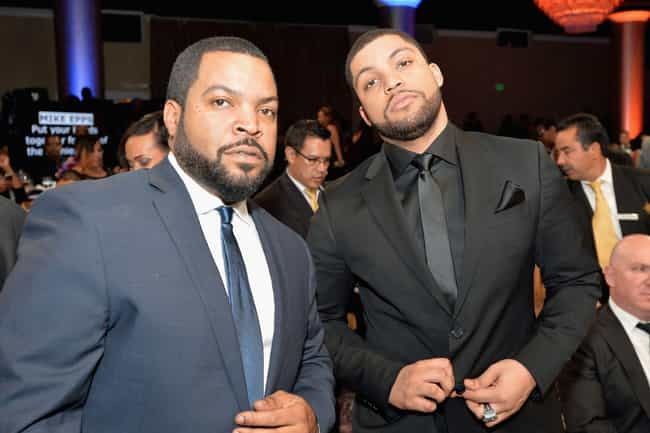 O'Shea Jackson Jr. and Ice Cub... is listed (or ranked) 3 on the list 23 Awesome Pics Of Actors With People They Played In Movies