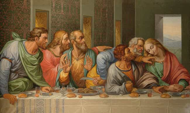 The Men Likely Ate Without Ute... is listed (or ranked) 4 on the list Here's What Historians Think It Would Have Been Like To Be At The Last Supper