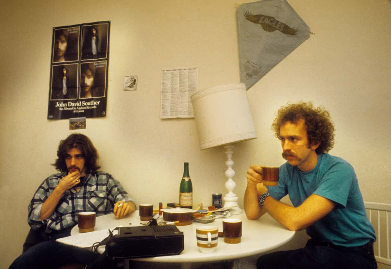 Bernie Leadon Poured A Beer On is listed (or ranked) 4 on the list The Eagles Sure Have A Lot Of Behind-The-Scenes Drama For A Band That Wants You To 'Take It Easy'