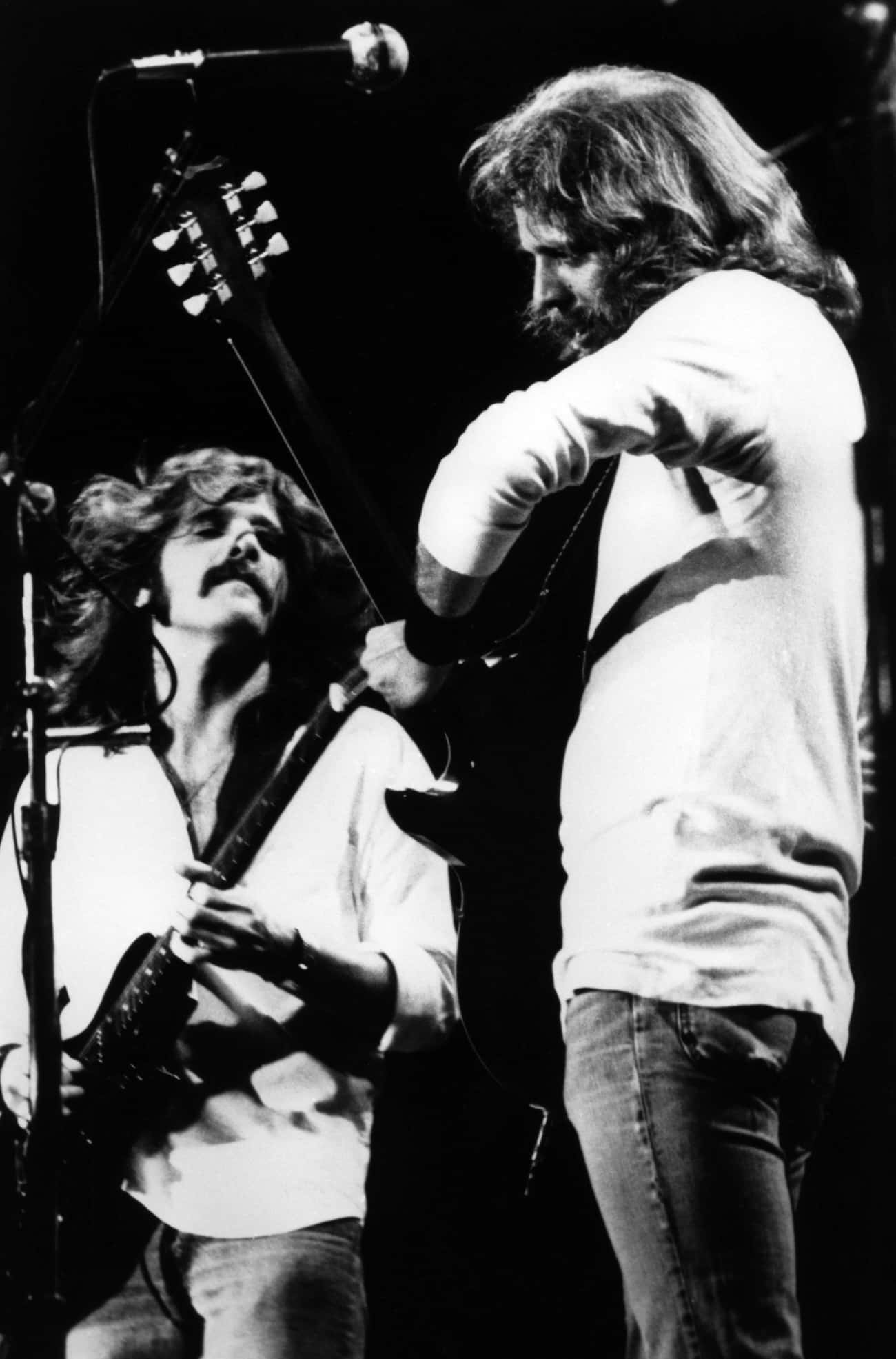 A Fight Between Glenn Frey And is listed (or ranked) 2 on the list The Eagles Sure Have A Lot Of Behind-The-Scenes Drama For A Band That Wants You To 'Take It Easy'