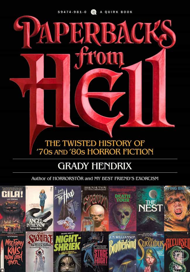 Paperbacks From Hell: Th... is listed (or ranked) 2 on the list 16 Coffee Table Books For People Obsessed With Horror