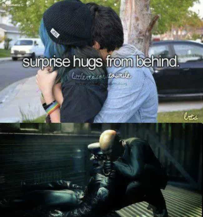 A Hug Is A Hug is listed (or ranked) 4 on the list The Best 'Hitman 2' And 'Hitman' Memes