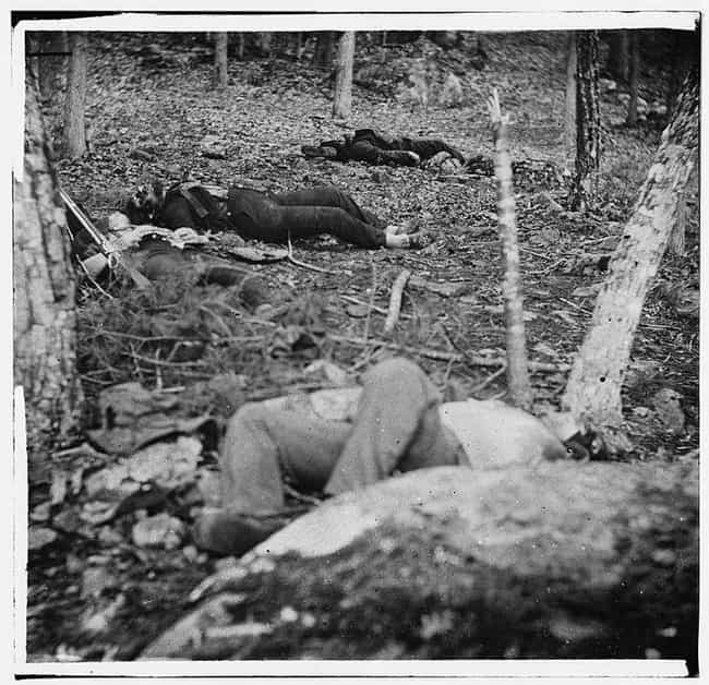 Four Soliders At Little Round ... is listed (or ranked) 3 on the list The Creepiest, Most Haunting Photos Of The Civil War