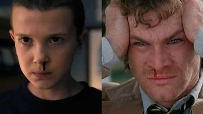 Eleven's Nosebleeds Make Her L... is listed (or ranked) 3 on the list All The Pop Culture References In 'Stranger Things'