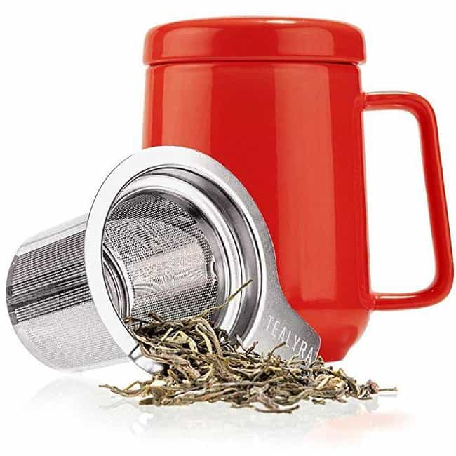 Peak Ceramic Red Tea Cup Infus... is listed (or ranked) 4 on the list The Best Secret Santa Gifts