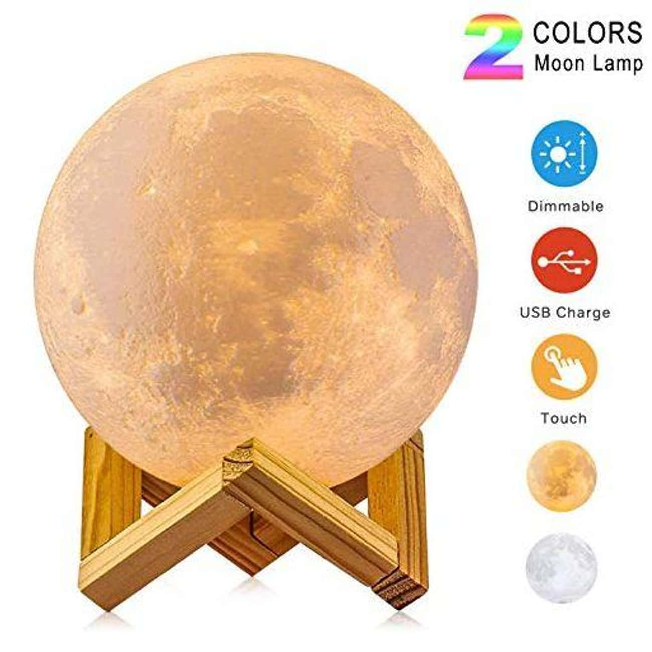 Moon Lamp is listed (or ranked) 1 on the list The Best Secret Santa Gifts