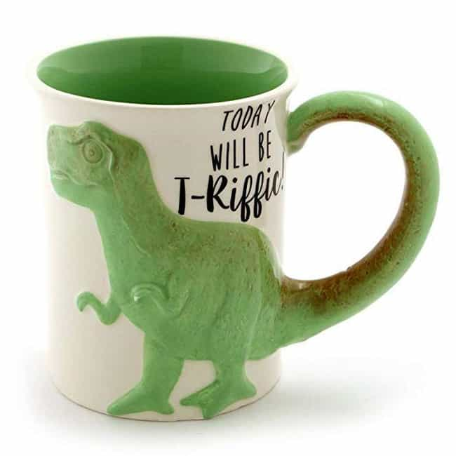 """""""Tea Rex"""" Stoneware Coffee Mug is listed (or ranked) 1 on the list The Best White Elephant Gifts"""