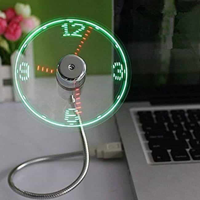 LED Clock Fan is listed (or ranked) 3 on the list The Best White Elephant Gifts