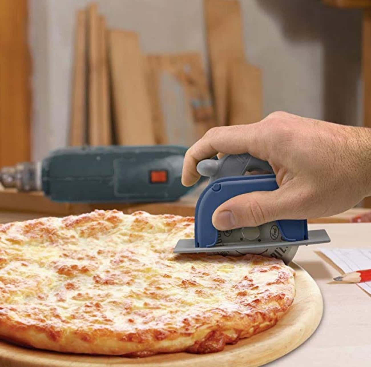 Circular Saw Pizza Wheel is listed (or ranked) 2 on the list The Best White Elephant Gifts