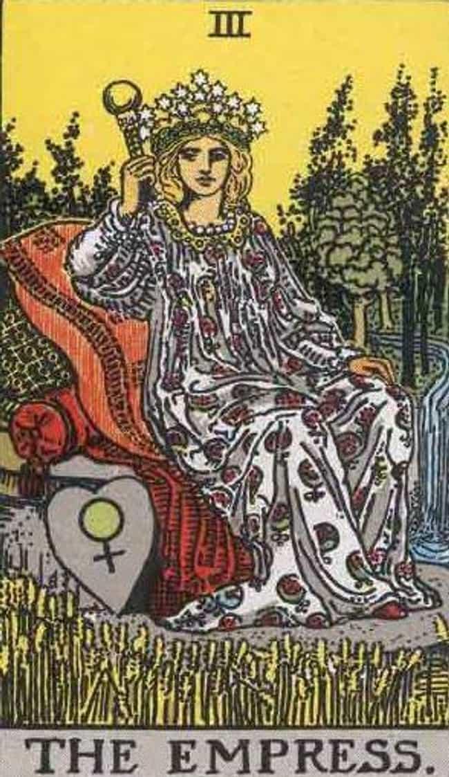 The Empress is listed (or ranked) 4 on the list The Tarot Card Major Arcana