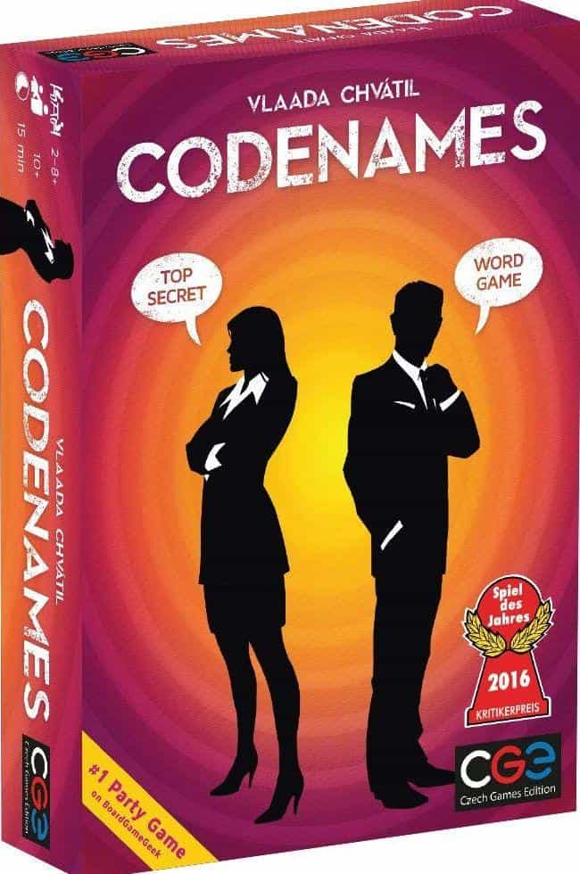 Codenames is listed (or ranked) 2 on the list The Most Popular Family Board Games Right Now