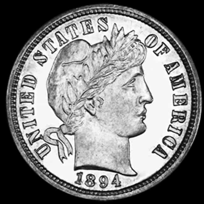 1894-S Barber Dime is listed (or ranked) 3 on the list Shatter Your Old Piggy Bank Because These Rare Coins Now Cost a Pretty Penny