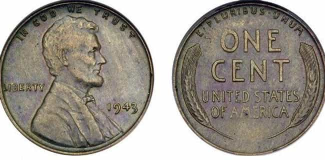 1943-D Copper Lincoln Penny is listed (or ranked) 4 on the list Shatter Your Old Piggy Bank Because These Rare Coins Now Cost a Pretty Penny