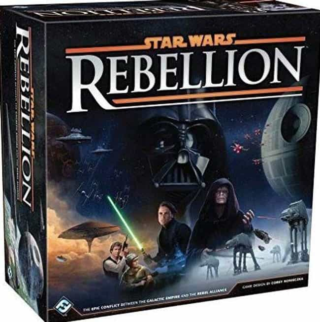 Rebellion is listed (or ranked) 1 on the list The Best Star Wars Board Games Out Right Now